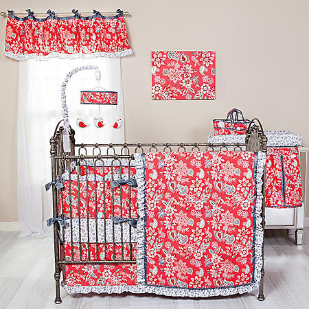 Waverly Charismatic 3-Piece Crib Bedding Set, Cherry Floral