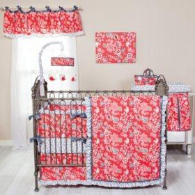 Waverly Charismatic 3-Piece Crib Bedding Set, Cherry Floral