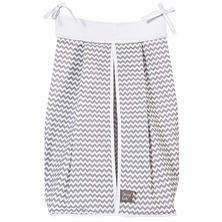 Trend Lab Diaper Stacker, Dove Gray Chevron
