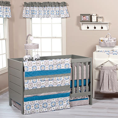 Trend Lab 3-Piece Crib Bedding Set, Monaco