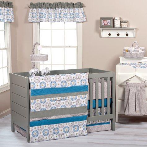 Trend Lab 3-Piece Crib Bedding Set, Monaco