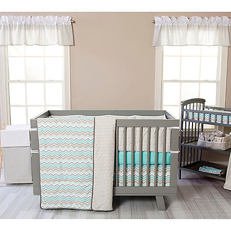 Trend Lab 3-Piece Crib Bedding Set, Seashore Waves