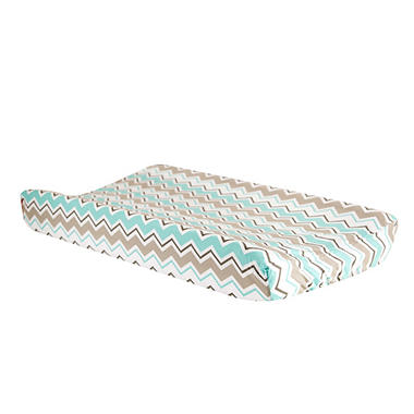 Trend Lab Changing Pad Cover, Seashore Waves Chevron