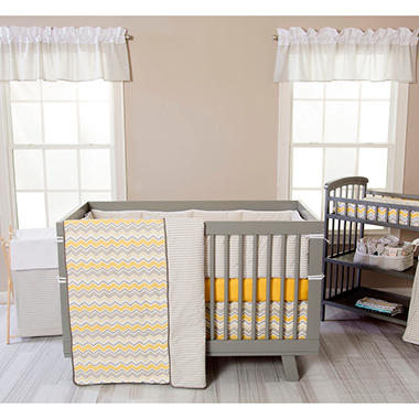 Trend Lab 3-Piece Crib Bedding Set, Buttercup Zigzag