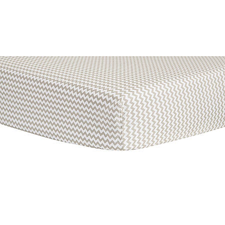 Trend Lab Crib Sheet, Dove Gray Chevron