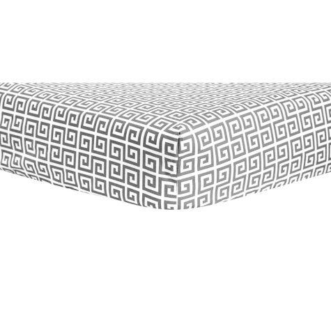 Trend Lab Crib Sheet, Gray Greek Key