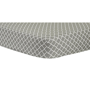 Trend Lab Crib Sheet, Gray Diamond