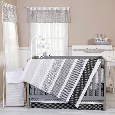 Trend Lab 3-Piece Crib Bedding Set, Ombre Gray
