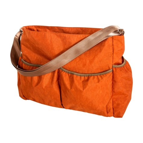 Trend Lab Crinkle Tote Diaper Bag, Orange