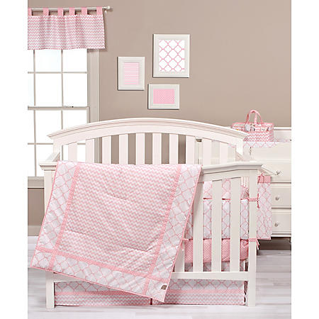Trend Lab 3-Piece Crib Bedding Set, Pink Sky