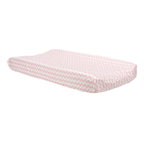Trend Lab Changing Pad Cover, Pink Sky Chevron