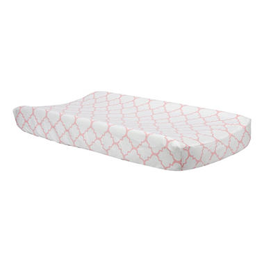 Trend Lab Changing Pad Cover, Pink Sky Quatrefoil