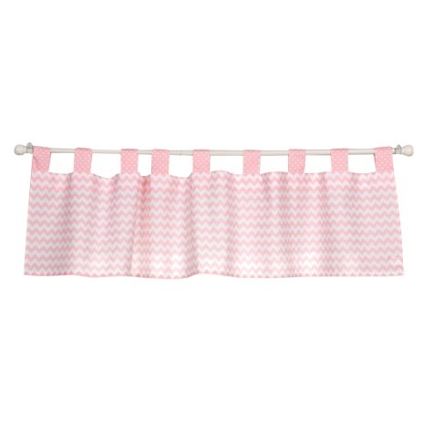 Trend Lab Window Valance, Pink Sky