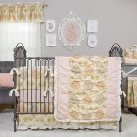 Waverly Rosewater Glam 3-Piece Crib Bedding Set, Kings Turban