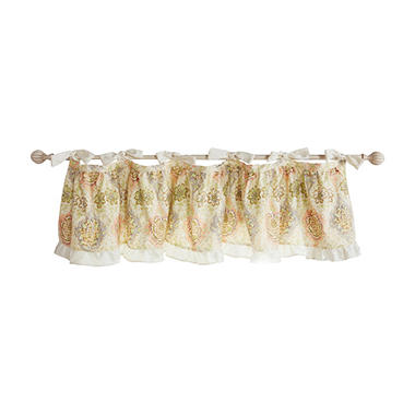 Waverly Rosewater Glam Window Valance, Kings Turban