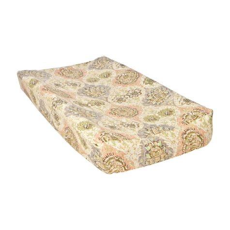 Waverly Rosewater Glam Changing Pad Cover, Damask