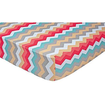 Waverly Pom Pom Play Crib Sheet, Panama Wave