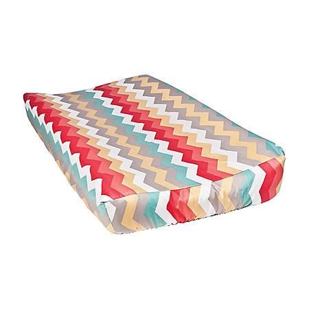 Waverly Pom Pom Play Changing Pad Cover, Panama Wave