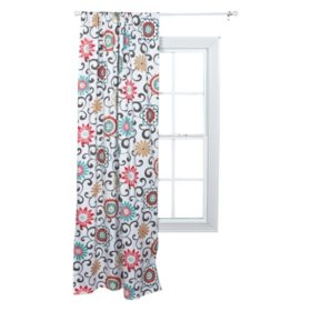 Waverly Pom Pom Play Window Drape, Floral