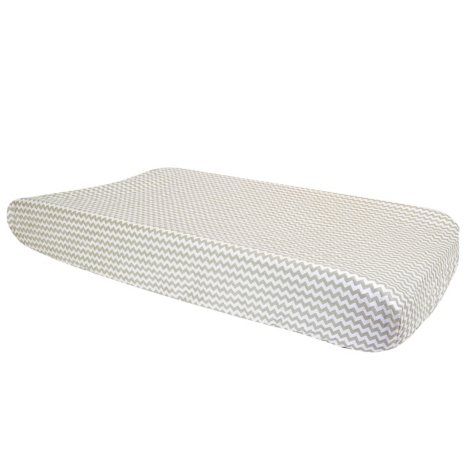Trend Lab Changing Pad Cover, Dove Gray Chevron