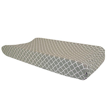 Trend Lab Changing Pad Cover, Paloma Gray Diamond