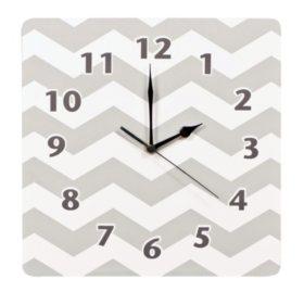 Trend Lab Wall Clock, Dove Gray Chevron