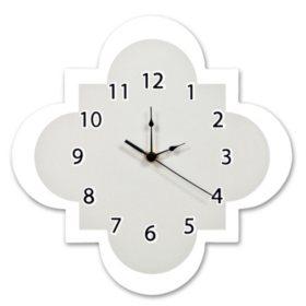 Trend Lab Wall Clock, Gray Quatrefoil