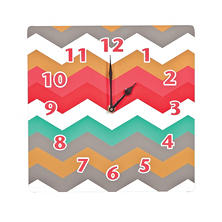 Waverly Pom Pom Play Wall Clock, Coral