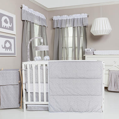 Trend Lab 3-Piece Crib Bedding Set, Gray and White Circles