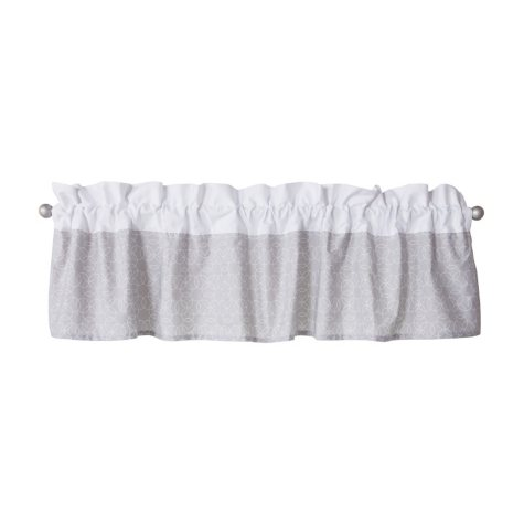 Trend Lab Window Valance, Gray and White Circles
