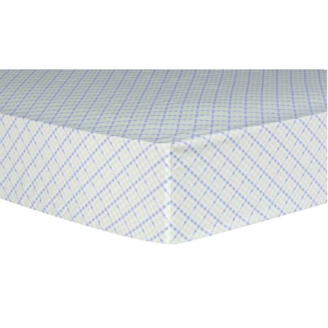 Trend Lab Fitted Crib Sheet, Forest Tales Plaid