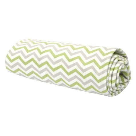 Trend Lab Flannel Swaddle Blanket - Sage, Gray and White Chevron