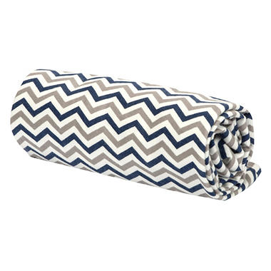 Trend Lab Flannel Swaddle Blanket - Navy, Gray and White Chevron