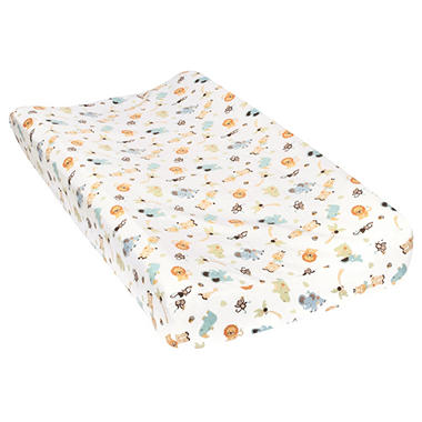 Trend Lab Flannel Changing Pad Cover, Jungle Friends