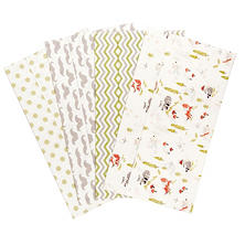 Trend Lab Flannel Burp Cloth, 4 pk. Set - Winter Woods