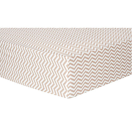 Trend Lab Flannel Fitted Crib Sheet, Doe and White Chevron