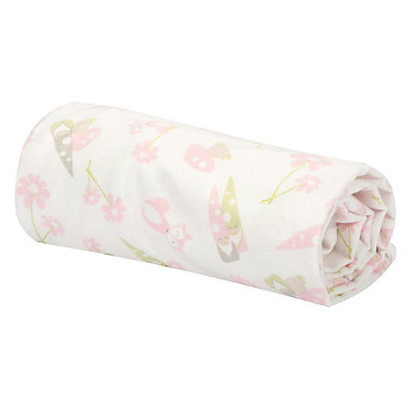 Trend Lab Flannel Swaddle Blanket, Garden Gnomes