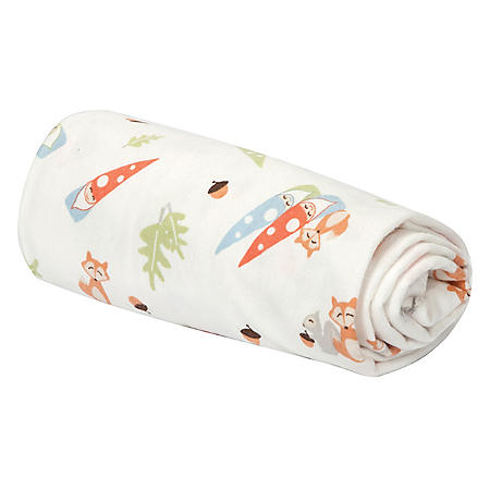 Trend Lab Flannel Swaddle Blanket, Forest Gnomes