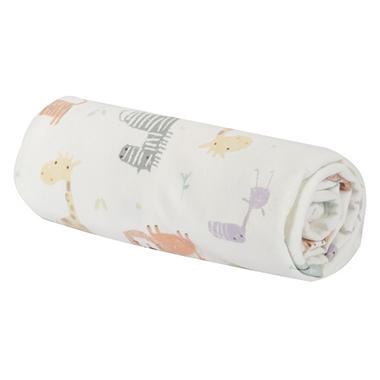 Trend Lab Flannel Swaddle Blanket, Crayon Jungle