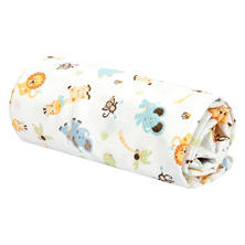 Trend Lab Flannel Swaddle Blanket, Jungle Friends