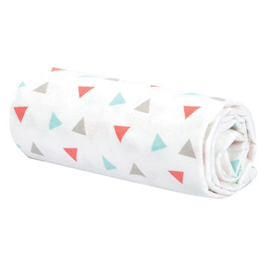 Trend Lab Flannel Swaddle Blanket, Coral Triangles
