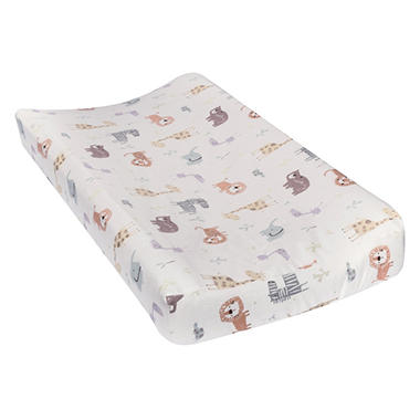 Trend Lab Flannel Changing Pad Cover, Crayon Jungle