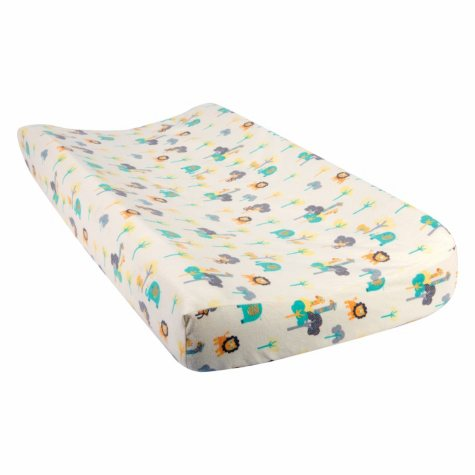Trend Lab Flannel Changing Pad Cover, Lullaby Jungle