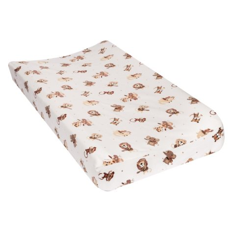Trend Lab Flannel Changing Pad Cover, Safari Rock Band