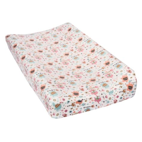 Trend Lab Flannel Changing Pad Cover, Playful Elephants
