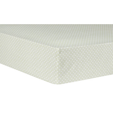 Trend Lab Fitted Crib Sheet, Sea Foam Dot