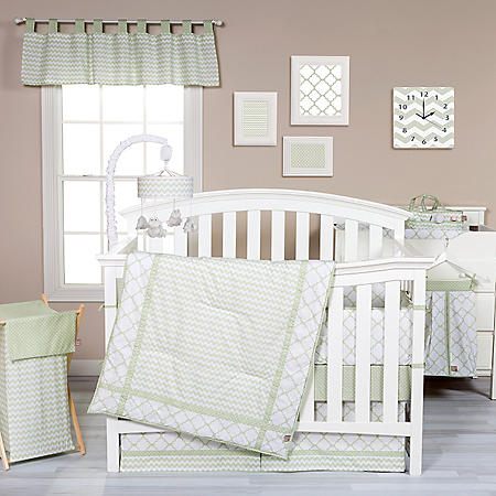 Trend Lab 3-Piece Crib Bedding Set, Sea Foam