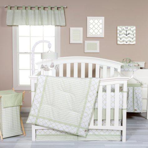 Trend Lab 3-Piece Crib Bedding Set, Sea Foam