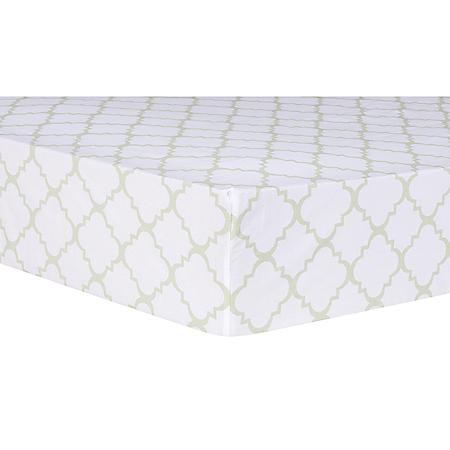 Trend Lab Fitted Crib Sheet, Sea Foam Quatrefoil