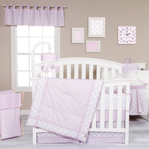 Trend Lab 3-Piece Crib Bedding Set, Orchid Bloom